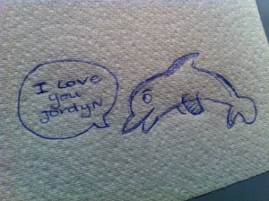 My friend Alli knows how much I love dolphins, so sweet (:
