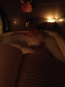 Candlelit bubble bath (reading about Coco Chanel)